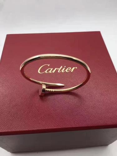 cartier卡地亚18k玫瑰金钉子手镯15号 近新全套 3**** ,难得15号,要的速度,太多人找